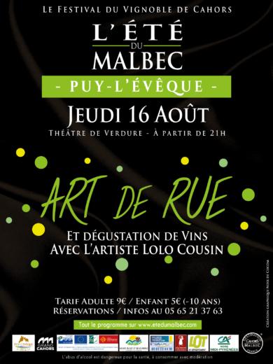 L'été du Malbec – Soirée Art de Rue