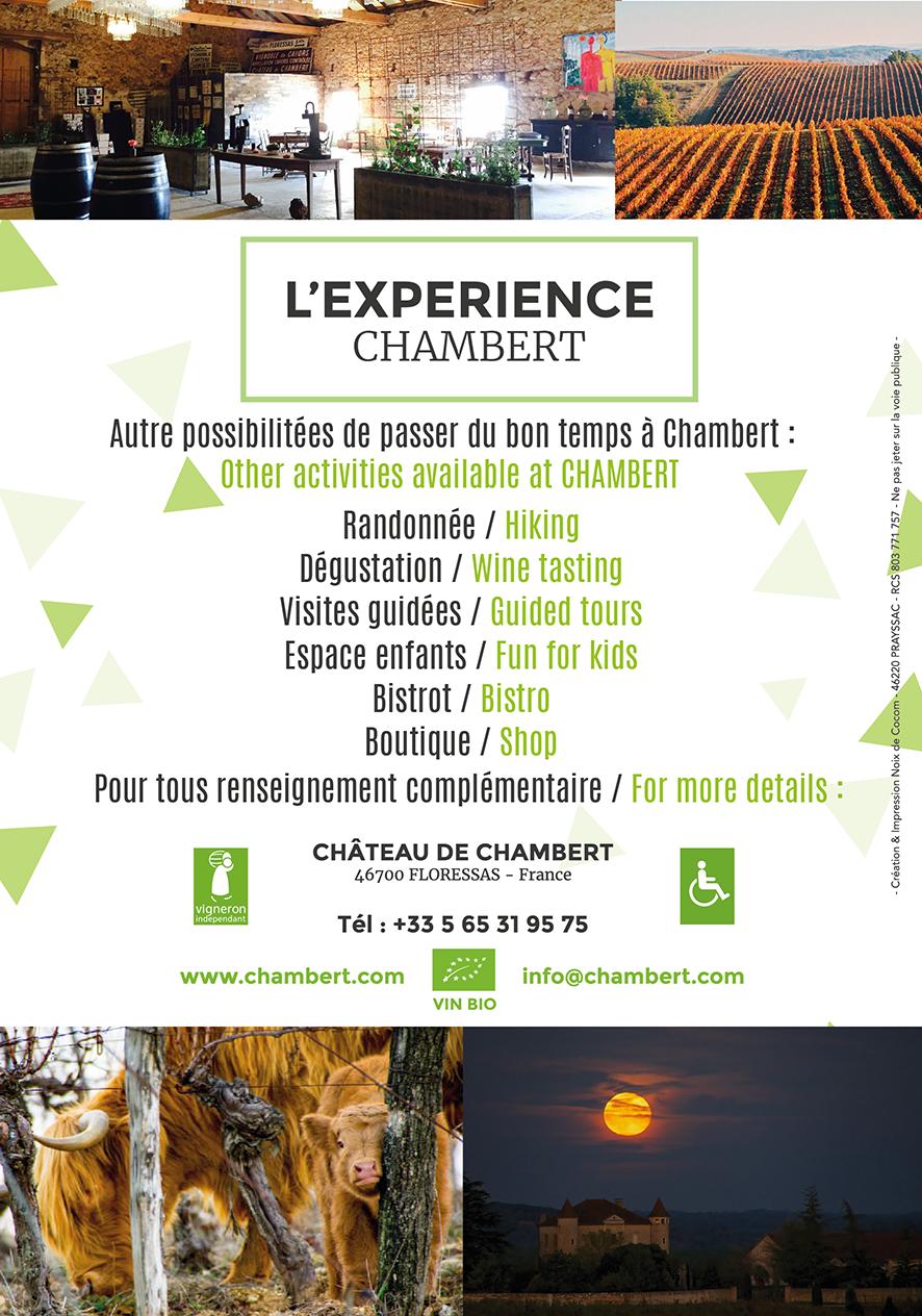 L'expérience Chambert – Château Chambert