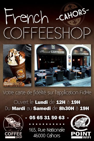 French coffee shop Cahors