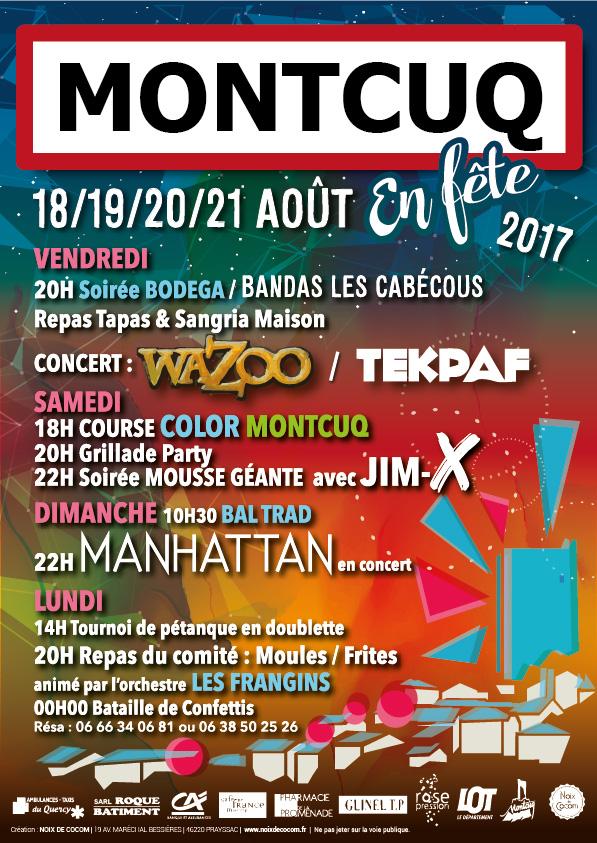 Montcuq en fête 2017