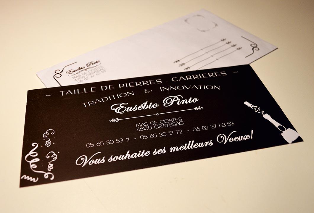 Invitation et enveloppes personnalisées